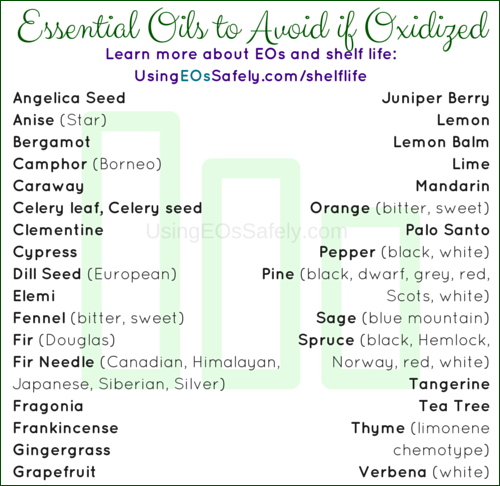 Essential Oils to Avoid if Oxidized