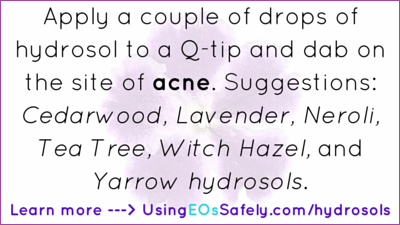 hydrosols for acne