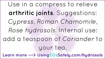 hydrosols for arthritis