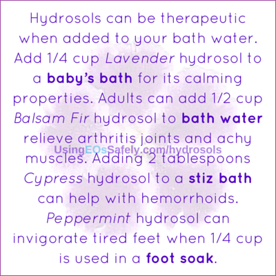 hydrosols for baths