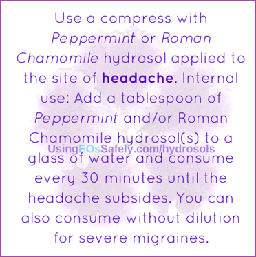 hydrosols for headaches