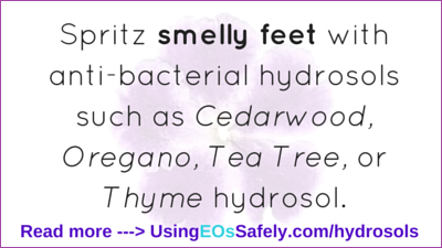 hydrosols for smelly feet