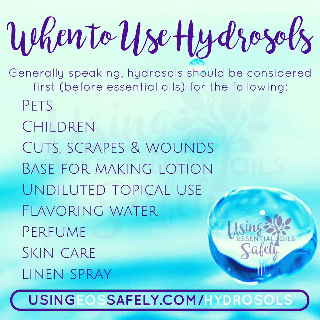 When to use hydrosols