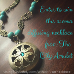GIVEAWAY: Aroma diffusing necklace from The Oily Amulet