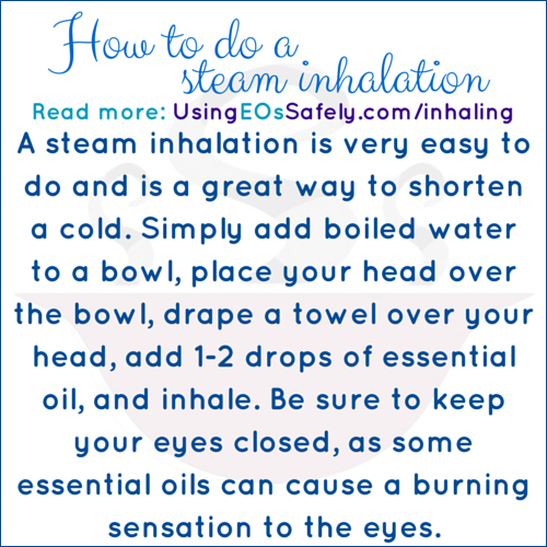 How to do a steam inhalation