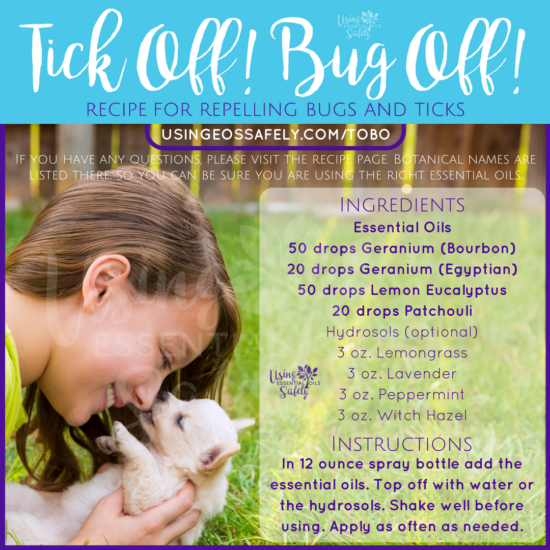 Tick Off! Bug Off! (TOBO) – spray for repelling bugs and ticks made with essential oils and hydrosols