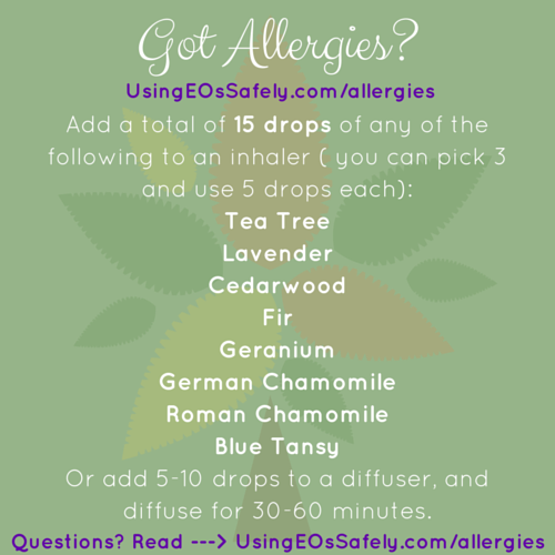 Got allergies? Try this inhaler recipe