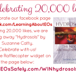 GIVEAWAY: Hydrosols book – to celebrate our facebook page reaching 20,000 likes