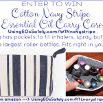 GIVEAWAY: Cotton Navy Stripe Essential Oil Carry Case by Rivertree Life