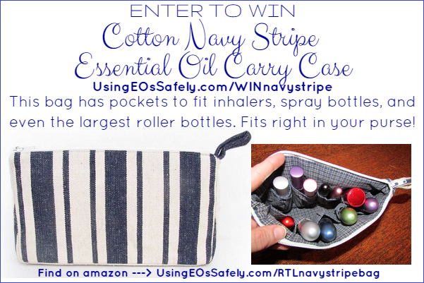 Enter to win: Cotton Navy Stripe Essential Oil Carry Case