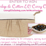GIVEAWAY: Burlap & Cotton Essential Oil Carry Case by Rivertree Life