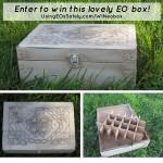 GIVEAWAY: Antiqued White Celtic Design EO Storage/Supply box