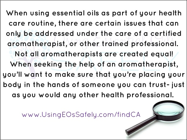 Not all aromatherapists are created equal