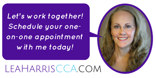 Let's work together! Schedule your one-on-one appointment with me today!