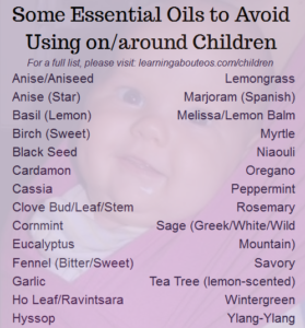 Essential oils to avoid