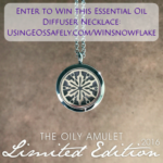 GIVEAWAY: The Oily Amulet SNOWFLAKE essential oil diffuser necklace!