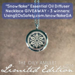 GIVEAWAY: Snowflake Essential Oil Diffuser Necklace (three winners!)