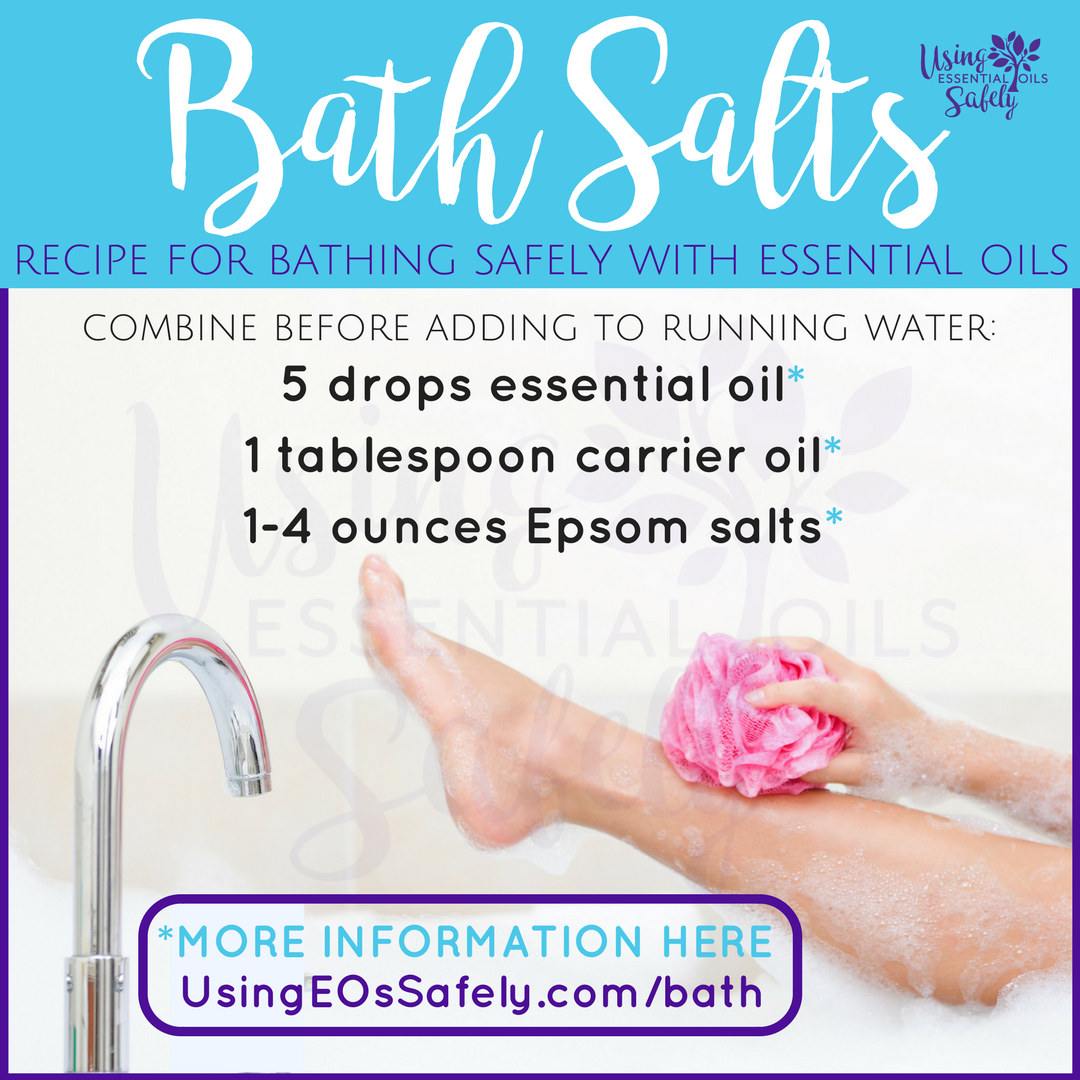 Bath Salts - a recipe for bathing safely with essential oils