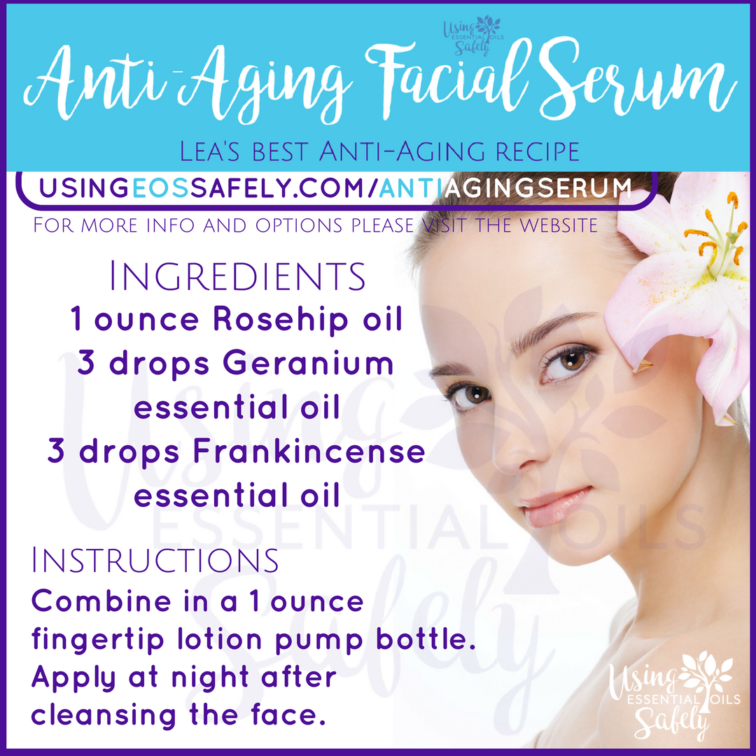 Anti-Aging Facial Serum using essential oils