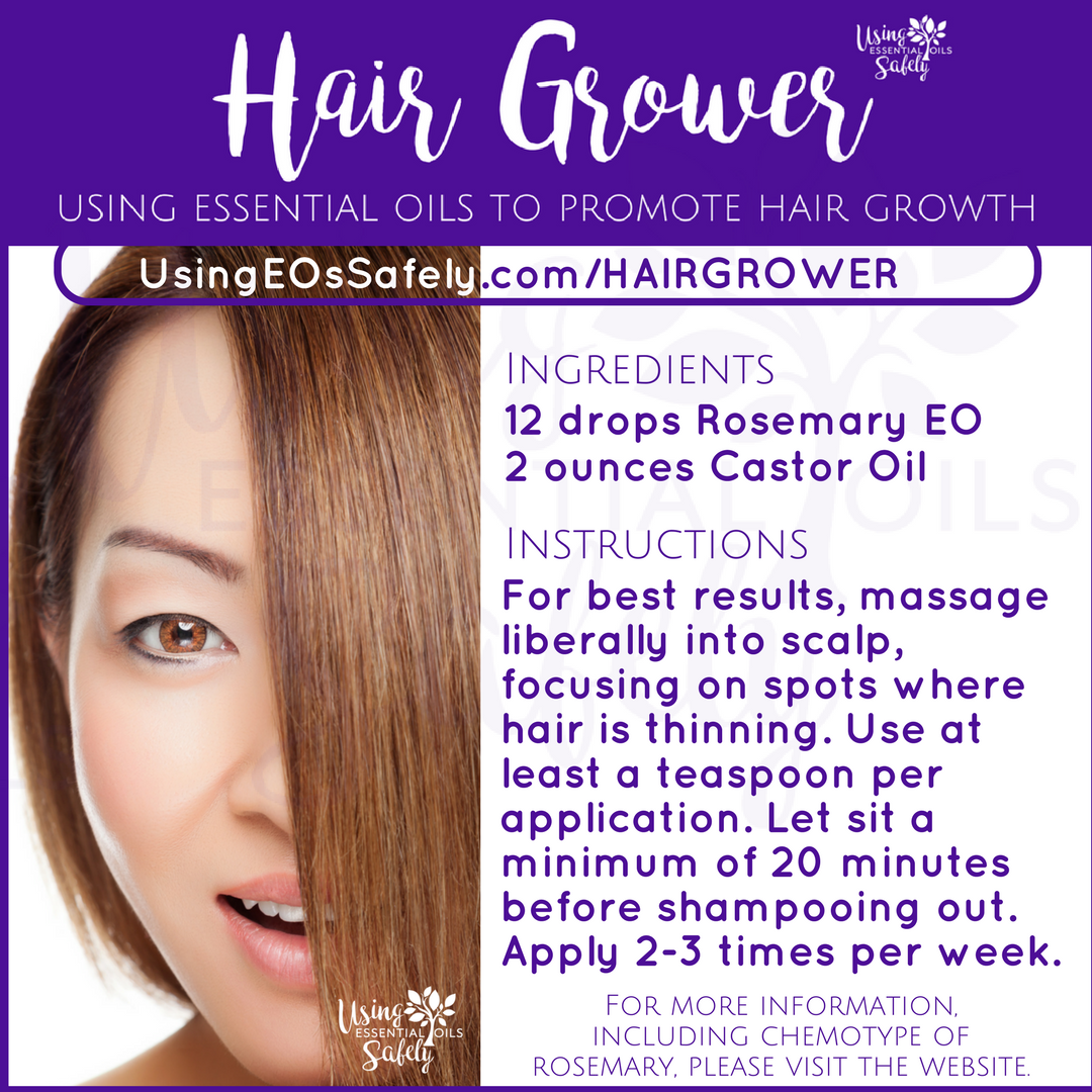Hair Grower Recipe Using Essential Oils To Promote Hair Growth