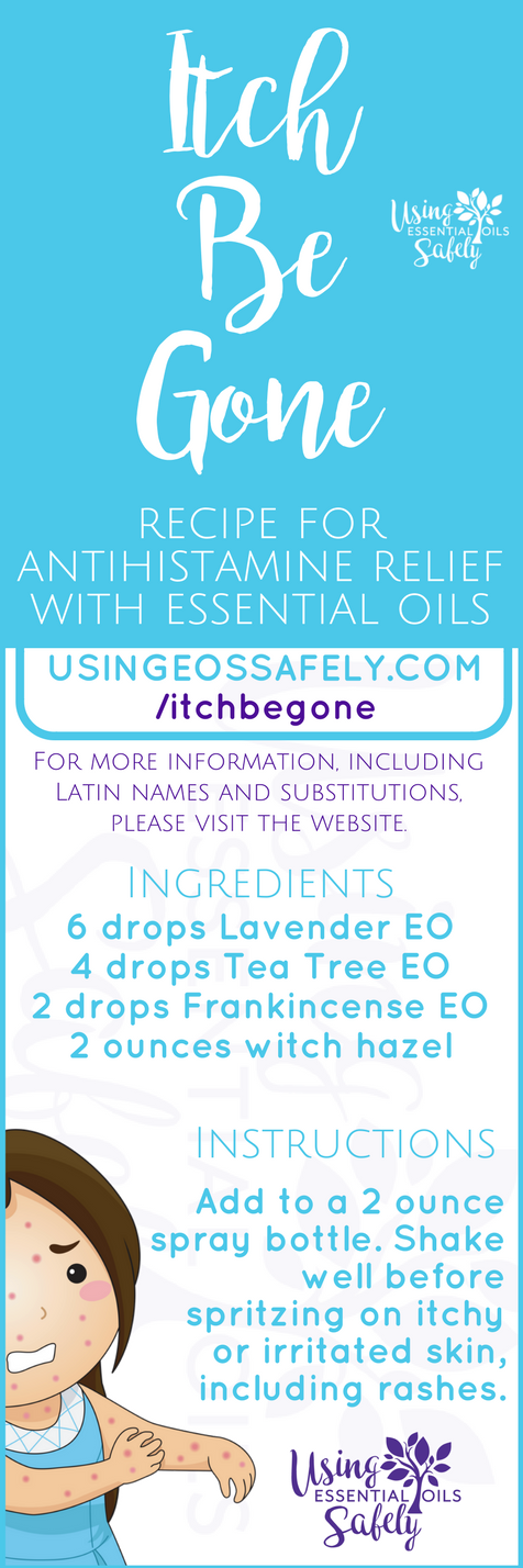 Itch-Be-Gone – recipe for antihistamine relief with